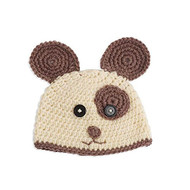 Unisex Baby Hand Crocheted Doggie Hat