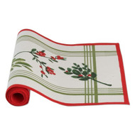 Greenery Stripe Cotton Runner