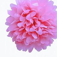 """Pink 6"""" Party Tissue Pom Pom, Set of 8"""