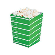 Football, Superbowl Party Bowl , Touchdown Popcorn Boxes - Set of 12