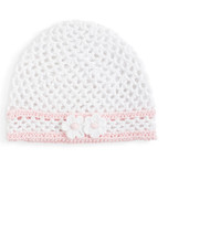 Baby Girls Crocheted Pull On Hat
