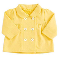 Baby Girls Yellow Double Breasted Jacket (12-18 months)