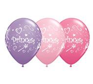 """11"""" Princess Latex Balloons - Set of 6"""