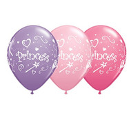 "11"" Princess Latex Balloons - Set of 6"
