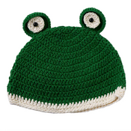 Baby Boys Pull On Frog Hat