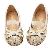 Little Girls Sequin Ballet Flats (Gold, 13)