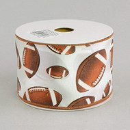 "Footballs Ribbon 2.5"" wide"