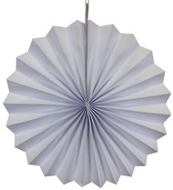 Paper Pinwheel Hanging Decoration, White, 16 inch