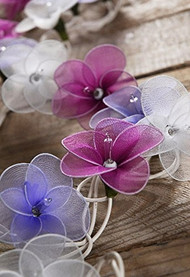 Violet Flower String Lights