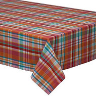 "Malibu Madras Tablecloth - 60"" x 84"""