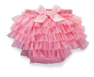 Mud Pie Light Pink Chiffon Bloomer 0-6 months