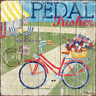 Pedal Pusher Paper Cocktail Napkin