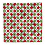 Red & Green Argyle Cloth Napkins - Set of 4