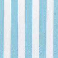 Big Stripes Soft Blue Luncheon Napkin