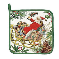 Jolly Santa Potholder