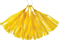Yellow 12 Inch Paper Tassels - Set of 4