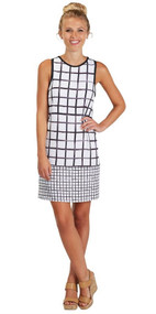 Rosie White & Black Shift Dress (Large)