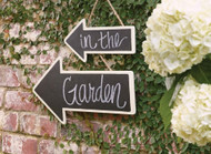 Small Chalkboard Hanging Arrow