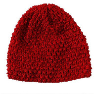 Red Crochet Hat (Red)