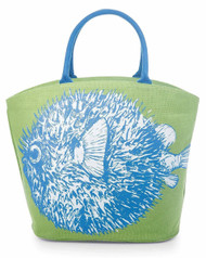 Mud Pie Deep Sea Icon Bowfish Tote