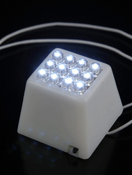 LED Paper Lantern Light Cube 12 LED Lights