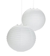 "White Paper Lanterns - 8"" - Set of 2"