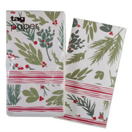 Greenery Stripe Hostess Paper Napkins