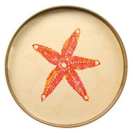 Rock Paper Flower Starfish Round Tray