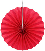 Paper Pinwheel Decoration Red 16 inch