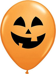 "11"" Latex Jack O Lantern Balloons - Set of 6"
