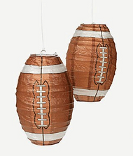 Football Paper Lanterns - Set of 2