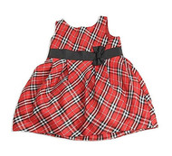 Baby Girls Red/Black Plaid Dress