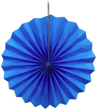 Paper Pinwheel Decoration Blue 16 inch