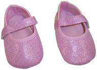 Baby Glitter Shoes (0-6 Months, Pink)