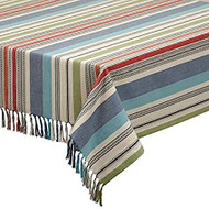 Mediterranean Stripe Tablecloth