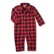 Infant Boys Buffalo Check One Piece