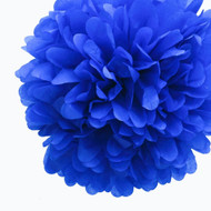 "Royal Blue 14"" Party Tissue Pom Pom, Set of 4"