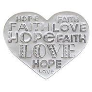 Faith Hope Love Trivet