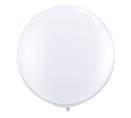 "Qualatex 36"" White Latex Balloon"