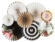 Botanical Paper Rosettes Party Fans