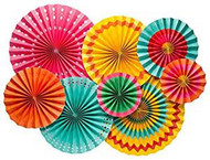 Fiesta Paper Rosettes Party Fans