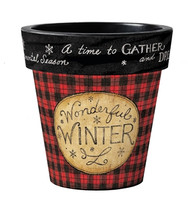 "Wonderful Winter 12"" Art Pot Planter"