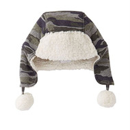 Camo Sharpa Toboggan Hat Toddler fits 2T-5T