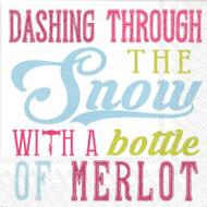 Dashing Through the Snow Paper Cocktail Napkin