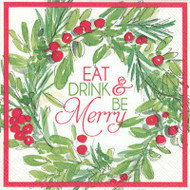 Eat Drink and Be Merry Paper Cocktail Napkin