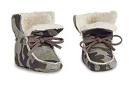 Camo Sherpa Booties - 6-12 months