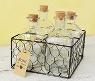 Chicken Wire Bottles Basket