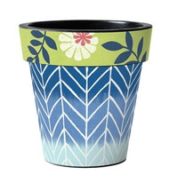 "Capastrano Herringbone 12"" Art Pot Planter"