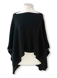 Black Knit Cape Shrug