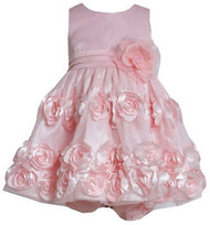Baby Girls Bonnie Jean Light Pink Bonaz Party Dress